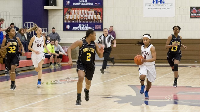 A 2015 match between the Harris-Stowe women's basketball team and Lyon College. - VIA FLICKR/DAVE THOMAS