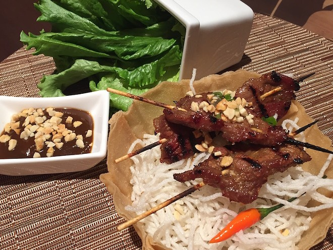 The beef satay appetizer. - PHOTO BY KEVIN KORINEK