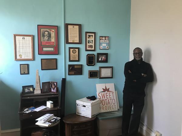 Sylvester Brown Jr. has a new lease on life through his Sweet Potato Project. - BENJAMIN SIMON