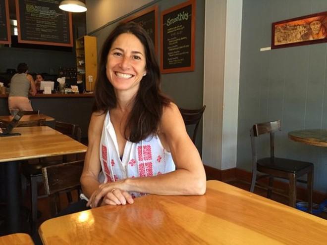 Jen Kaslow wants to bring a dog-friendly cafe to University City. - KEVIN KORINEK