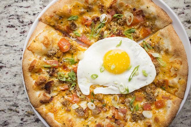 The breakfast pizza. - PHOTO BY MABEL SUEN