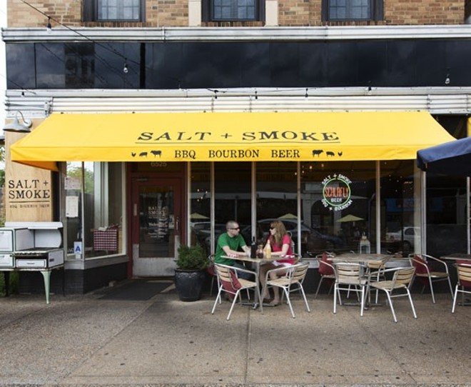 A popular dining spot on the Delmar Loop, Salt + Smoke was the scene of a protest Sunday night. - JENNIFER SILVERBERG