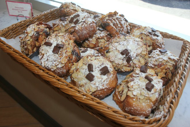 Chocolate and almond croissants are baked fresh daily. - CHERYL BAEHR