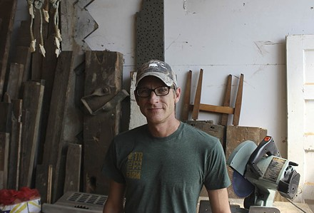 From sales to farming to art: Justin Leszcz doesn't mind switching careers. - DOYLE MURPHY