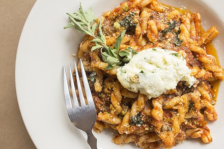 Baked gemelli ragu at Peno. - PHOTO BY MABEL SUEN