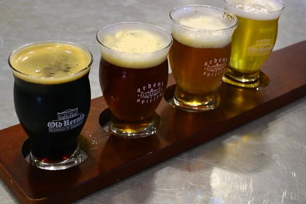 Flight of beer. - CHELSEA NEULING