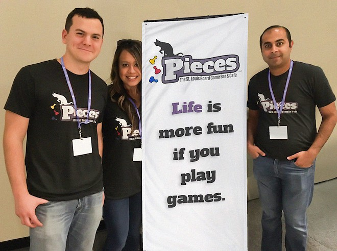 The three friends behind Pieces: James Lettau, Laura and Ameet Rawal. - COURTESY OF PIECES