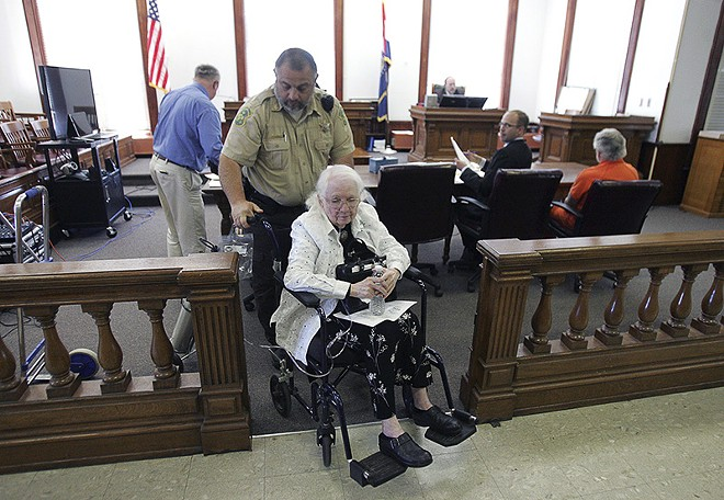 One of Father Ryan's nuns, Patricia Baldridge, became an unwilling witness in the case against the fake priest in 2015. - COURTESY OF THE COURIER/DENNIS MAGEE