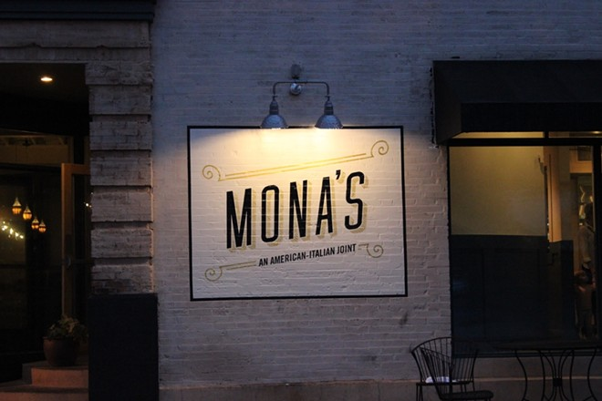 Mona's is located on Shaw Avenue in the Hill. - PHOTO BY LAUREN MILFORD