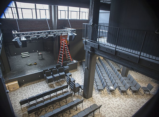 A view of the theater at .ZACK from its catwalk. - PHOTO BY KELLY GLUECK