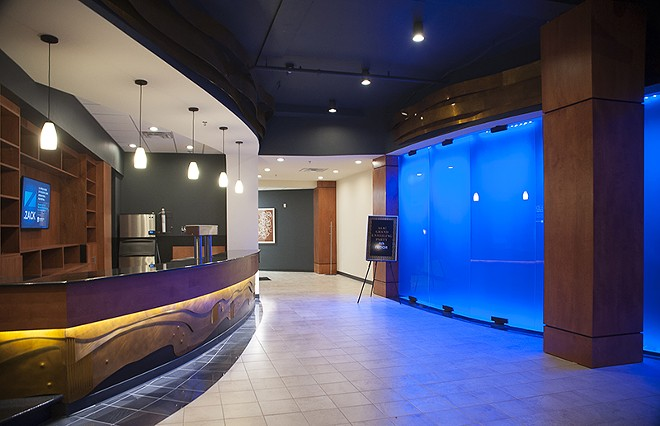 The first floor lobby. - PHOTO BY KELLY GLUECK