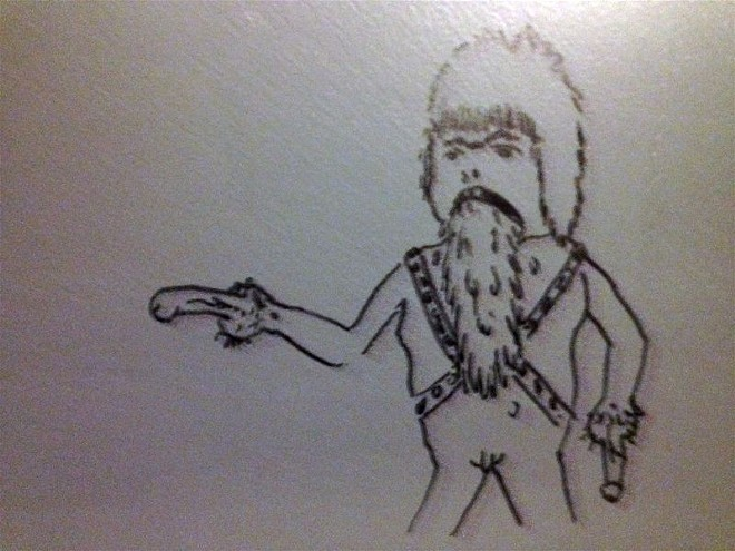 Vomiting, shaved Chewbacca with a mullet and penis-hands? Check! - ALL PHOTOS BY DANIEL HILL