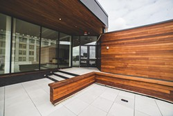 The rooftop space has a modern design. - COURTESY OF BIG BROTHERS BIG SISTERS