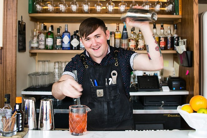 Brendan Sante has gone from nursing the sick to watching customers nurse his delicious drinks. - JEN WEST