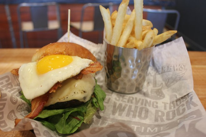 "Rock & Brews' ""Gastro Burger."" - CHERYL BAEHR"
