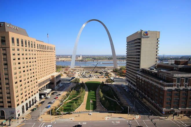 Luther Ely Smith Square, shown above, will be home to the new (temporary) ice skating rink. - COURTESY OF CITYARCHRIVER