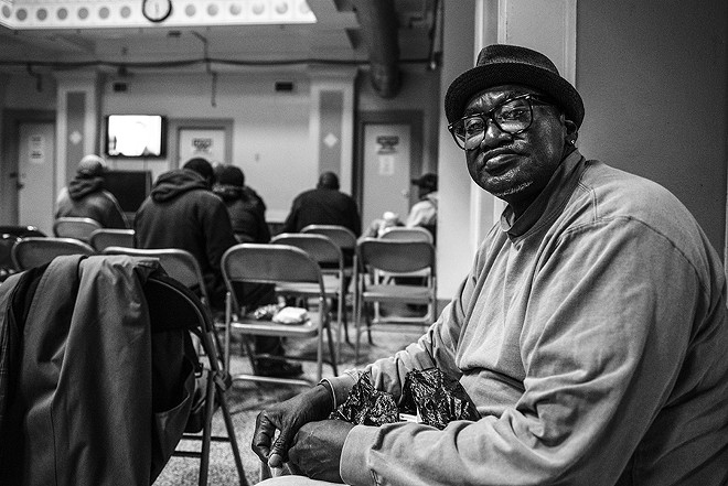 Abdullah Brown, 58, says he has been to homeless shelters around the country and that St. Louis needs to do a better job of taking care of the homeless. - PHOTO BY NICK SCHNELLE