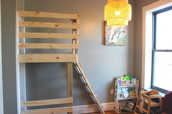 "Part of the child-friendly area upstairs, featuring a ""tree house."" - PHOTO BY LAUREN MILFORD"