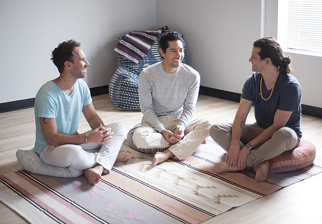 From left, FLOAT STL co-owners Kevin McCulloch, Marcio Guzman and Jacob Resch. - PHOTO BY KELLY GLUECK