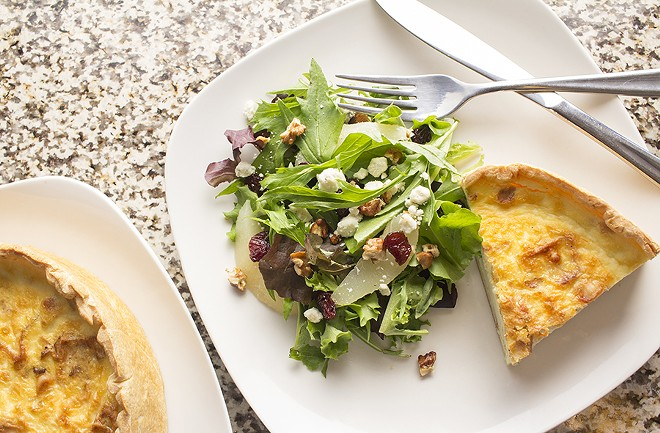 Savory items including housemade quiche are also available. - PHOTO BY MABEL SUEN