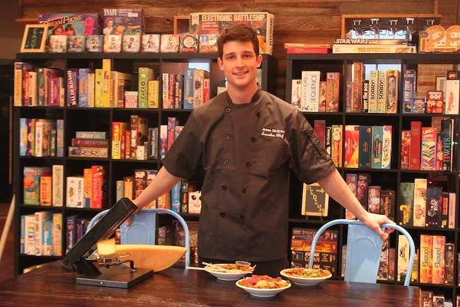 Chef Jesse McGraw shows off a few dishes. - PHOTO BY SARAH FENSKE