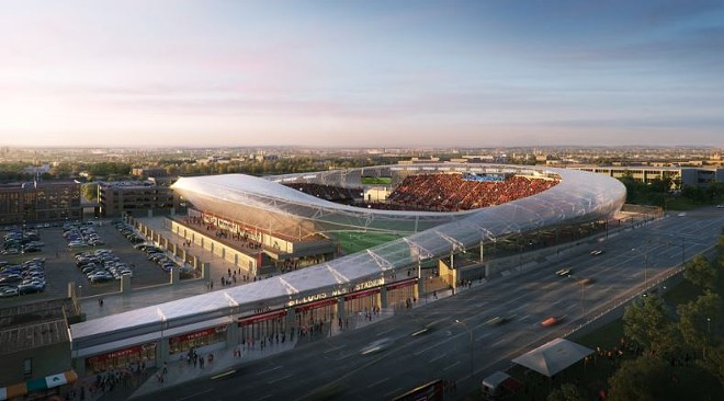 How much public money is worth spending on an MLS stadium? - RENDERING COURTESY OF HOK