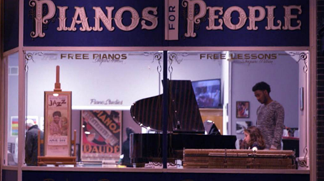 Pianos for People's Cherokee Street storefront - SCREENSHOT FROM VIDEO BELOW