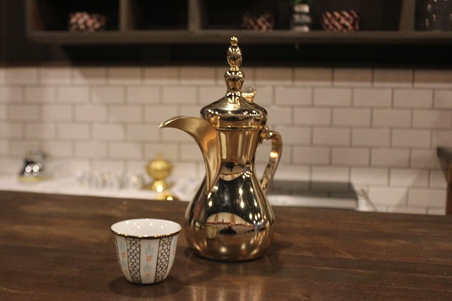 Arabic coffee is served as a welcoming gesture. - PHOTO BY SARAH FENSKE