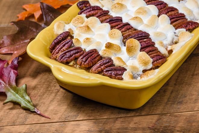 Sweet potato casserole: a winner on a cold day. - SHUTTERSTOCK/ZIGZAG MOUNTAIN ART