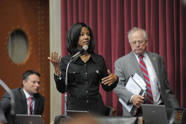 Tishaura Jones, the city's treasurer, is criticizing police participation in a reality TV show.