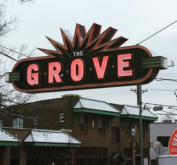 We love this sign in all weather. - PHOTO COURTESY OF INSTAGRAM / THEGROVESTL.