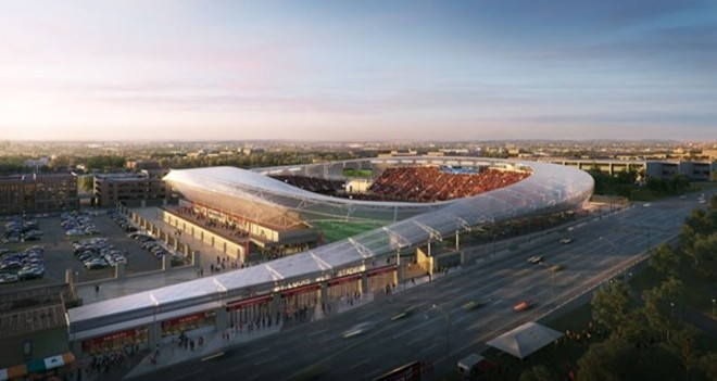 Could this stadium be built without public money? - RENDERING COURTESY OF HOK
