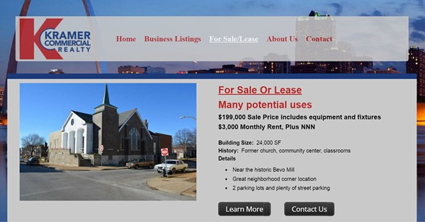 Screenshot of the Kramer Commercial Reality listing for the old Dojo Building property. - IMAGE VIA KRAMERCOMMERCIALREALTY.COM