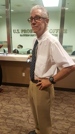 Martin McNally ​awaits a meeting with a parole supervisor inside the federal probation office in St. Louis​ in August 2016​. - PHOTO BY DANNY WICENTOWSKI