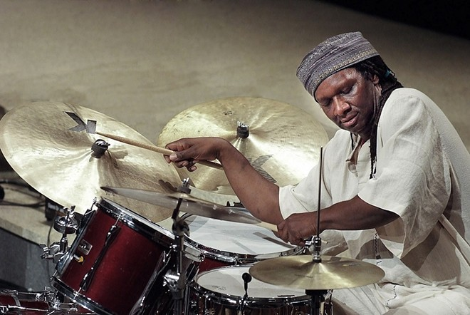 Percussionist Hamid Drake performs alongside violinist Iva Bittová for New Music Circle's first event of 2017 on Friday. - COURTESY OF NEW MUSIC CIRCLE