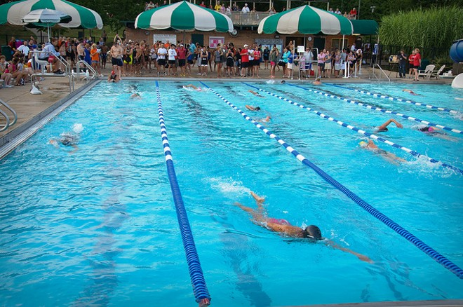 The aquatic center in O'Fallon, Missouri: One of its many attractive features for young families. - PHOTO COURTESY OF FLICKR/DAVE HERHOLZ