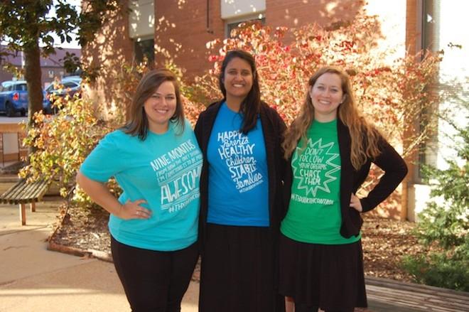 "Contraceptive Choice Center staffers celebrate ""Thanks, Birth Control"" Day"