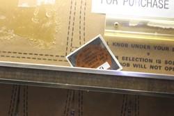 Lindner's cigarette machine has a permit. - PHOTO BY SARAH FENSKE