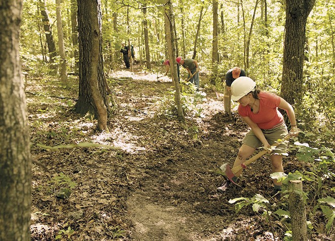 "Four ""Mega"" events each year draw numerous volunteers to work on the trail. - COURTESY OF THE OZARK TRAIL ASSOCIATION"