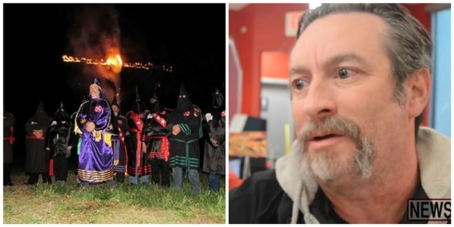 "Frank Ancona's reign as ""Imperial Wizard"" of a KKK chapter has met a violent end. - IMAGE VIA TWITTER/NEWS2SHARE"
