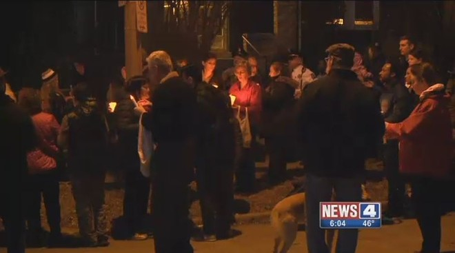 Neighbors in Tower Grove South mourn the death of 72-year-old grandfather visiting from New York. - IMAGE VIA KMOV
