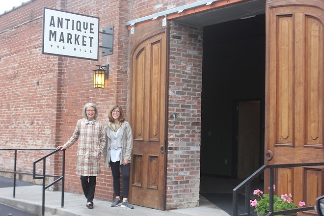 Carleen Kramer and Jennifer Pass are excited about the Hill Antique Market's opening next week. - SARAH FENSKE