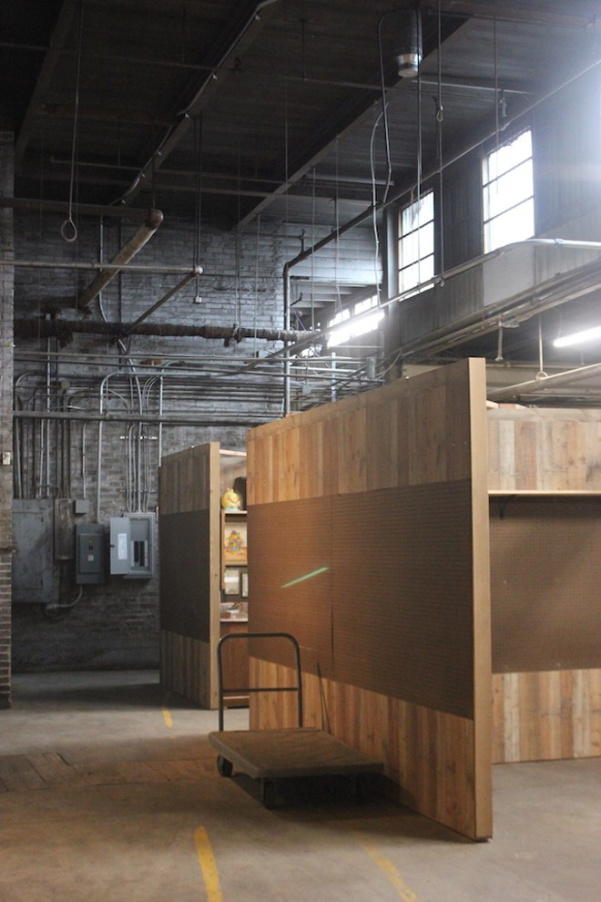 The old warehouse needed a thorough cleaning, but the bones were good, says Catering St. Louis owner Mark Erker. - SARAH FENSKE