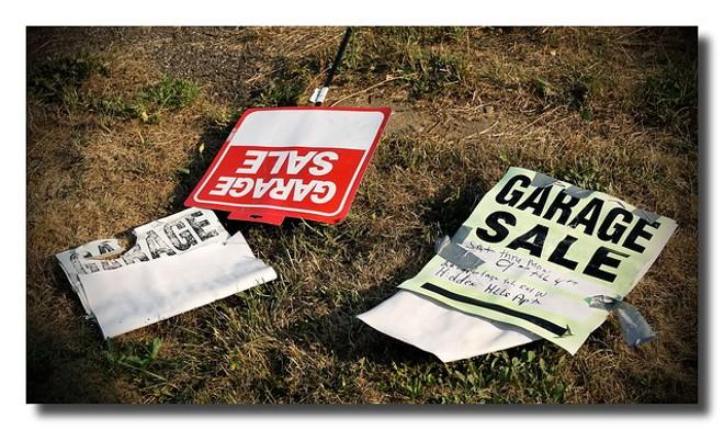 Get all those garage sale goodies this Saturday. - MARK TURNAUCKAS / FLICKR