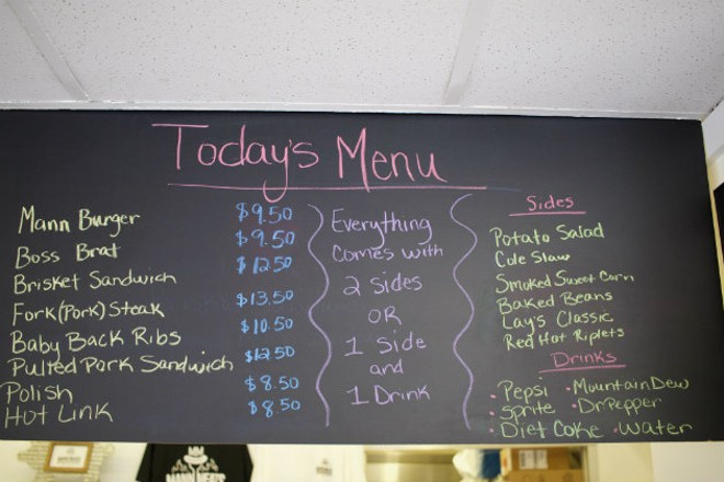 The daily smokehouse offerings. - CHERYL BAEHR