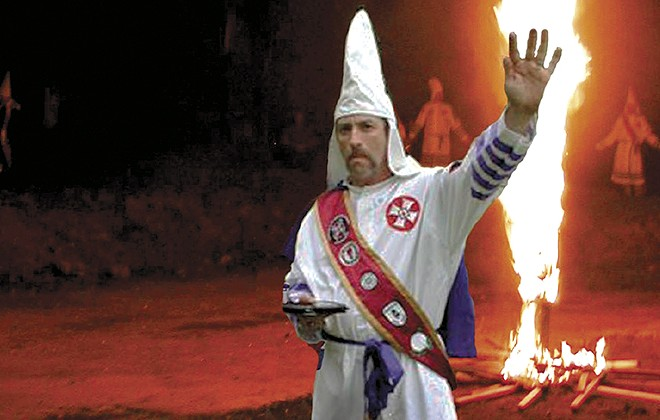 Frank Ancona portrayed himself as a powerful KKK leader, but the public image concealed a messy private life.  - PHOTO ILLUSTRATION VIA TRADITIONALISTAMERICANKNIGHTS.COM