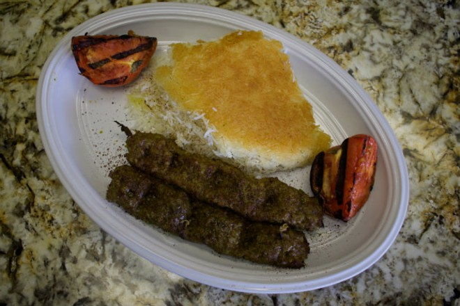 The beef koobideh is one of the specialties at Esther's Persian Cafe. - CHERYL BAEHR