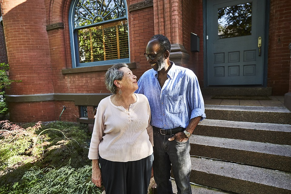 Sarah Beaman-Jones and Walter Jones have anchored Albion Place since early '70s. - THEO WELLING