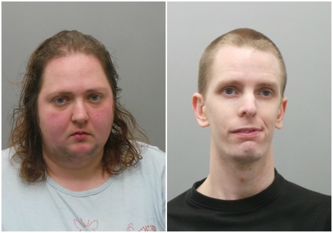 Heather McDorman, left, and her boyfriend, Zachary Hamby, were arrested in March 2018. - COURTESY ST. LOUIS COUNTY POLICE
