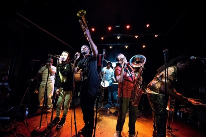 Rebirth Brass Band will perform at Atomic Cowboy Pavilion on Friday, September 6. - VIA HOWLIN' WOLF MANAGEMENT